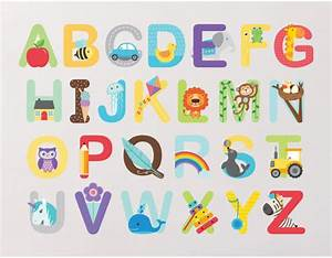 alphabet wall stickers buy abc wall stickers With wall stickers letters black