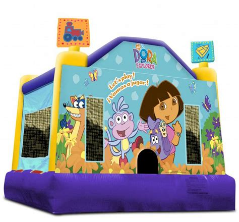 Dora Theme Inflatable Bounce House From Laugh N Leap