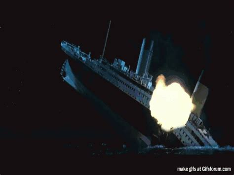 Titanic Sinking Gif by Titanic Needed Something To Jazz It Up A Bit Gifs