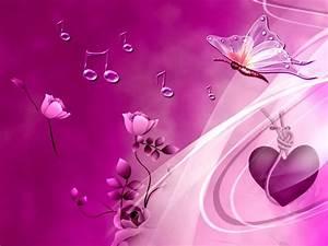 Pink Heart And Butterflies Wallpapers HD Wallpaper ...