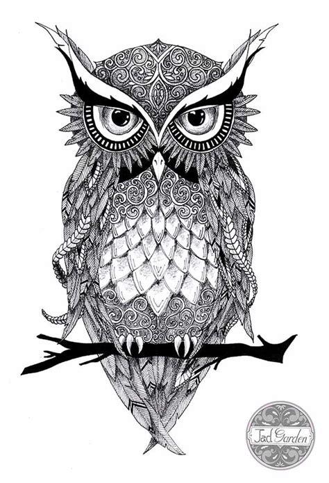dessin de hibou tatouage umt