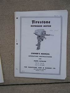 1960 Firestone Outboard Motor 8 Hp Owner Manual Parts