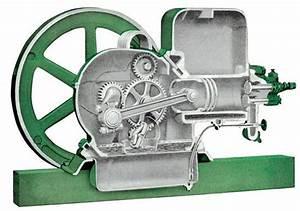 Cutaway Model E John Deere Hit And Miss Engine  Drawing