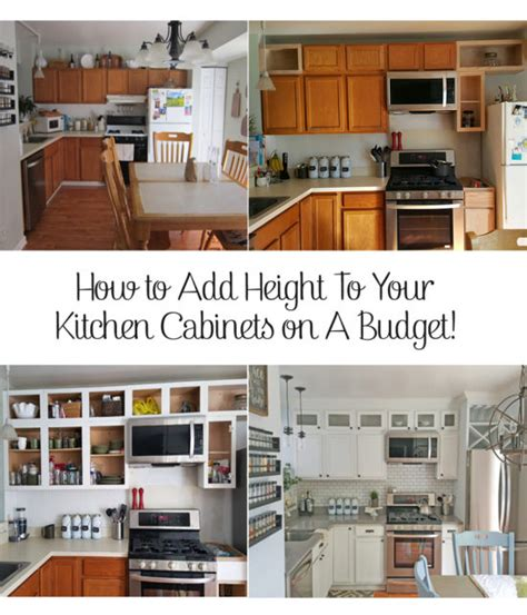 how to add height to kitchen cabinets kitchen cabinets how to add height 9281