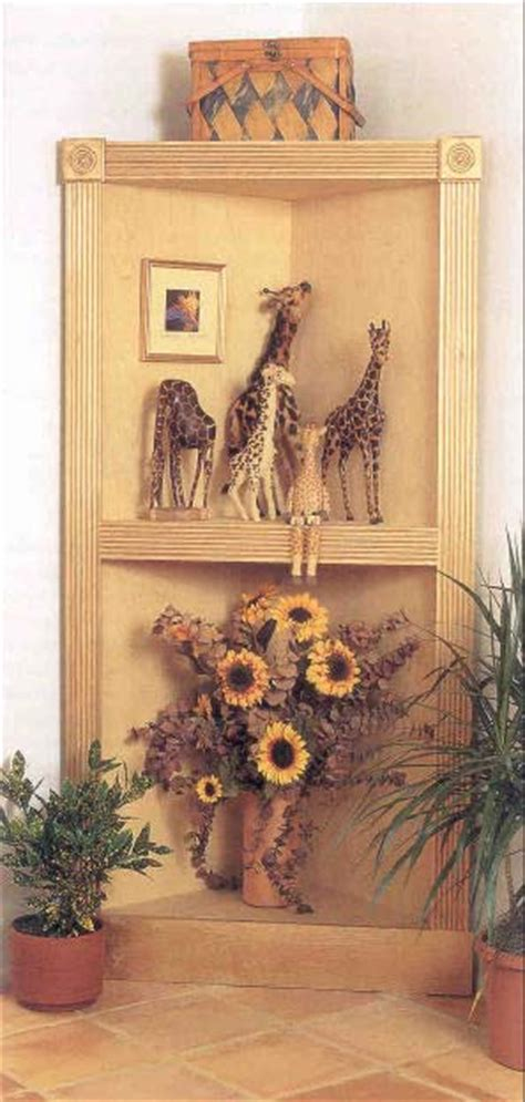 woodwork corner display cabinet wood plans  plans