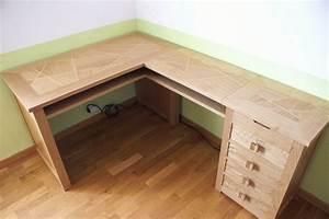Petit Bureau Angle : bureau d 39 angle par zeloko sur l 39 air du bois ~ Teatrodelosmanantiales.com Idées de Décoration