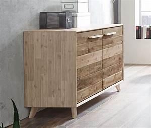 Kommode Industrial Look : kommode aus akazie geb rstet im industrial style vesanto ~ Markanthonyermac.com Haus und Dekorationen