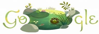 Summer Solstice Google Doodle Pond Winter Hemisphere