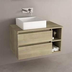 Meuble Salle De Bain Promo : meuble de salle de bain clair avec tiroirs ~ Edinachiropracticcenter.com Idées de Décoration