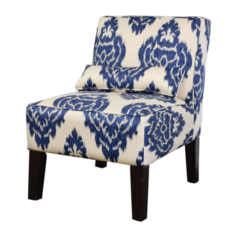 52 overstock overstock blue and white accent chair