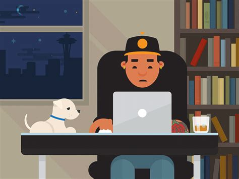 super cool home office illustrations   inspire