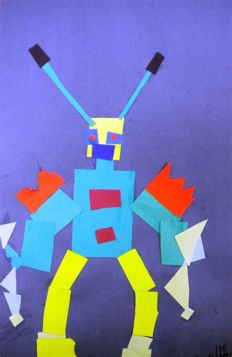 love  art st grade geometric robots