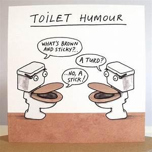 39toilet humour39 card by cardinky notonthehighstreetcom for Funny bathroom jokes
