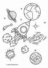 Space Printable Coloring Printables Planet Rocket Sheet sketch template