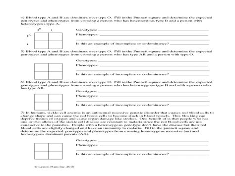 Incomplete And Codominance Worksheet Answers Worksheets For All  Download And Share Worksheets