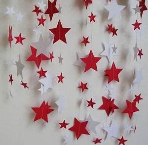 Comment Faire Une étoile En Papier : d coration de no l rouge et blanc faire soi m me ~ Nature-et-papiers.com Idées de Décoration