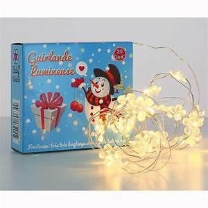 Guirlande Lumineuse Fleur : guirlande lumineuse blanc nacr 20 fleurs led little marmaille ~ Teatrodelosmanantiales.com Idées de Décoration
