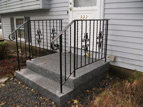 Handrails For Concrete Steps Exterior Wrought Iron