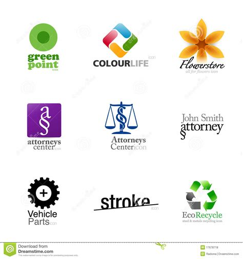 Modern Brand Designs  Set 2 Stock Illustration Image