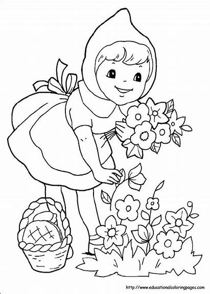 Riding Coloring Pages Hood Printable Pony Kitty