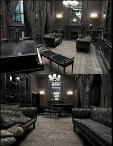 dark, gloomy, grimmauld place, harry potter, interiors