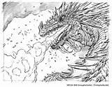 Coloring Hobbit Smaug Colouring Adult Dragon Sheets Ariana Grande Lord Rings Bing Drawing Tolkien Lotr Dragons Bilbo Sketch Lego Der sketch template