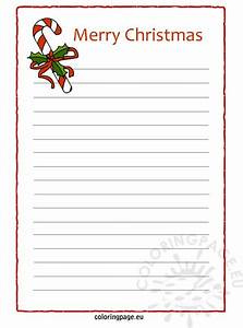 christmas letter paper coloring page With holiday letter paper