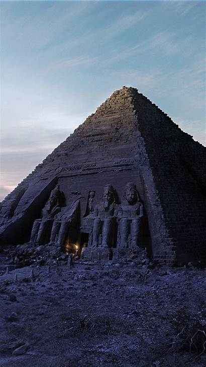 Egypt Pyramid Egyptian Android Pyramids Wallpapers Night