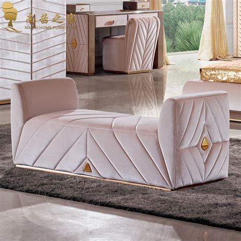 Bed And Chair Set by Modern Bedroom Furniture Bed End Chair Ottoman Fabric Sofa