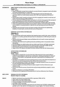 business controller resume examples aliciafinnnoack With controller resume template