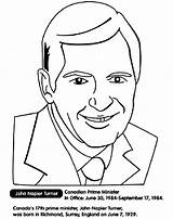 Prime Minister Canadian Coloring Turner Crayola Pages sketch template