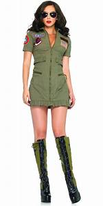adult top gun womens flight dress tg83700 fancy dress ball With robe militaire femme