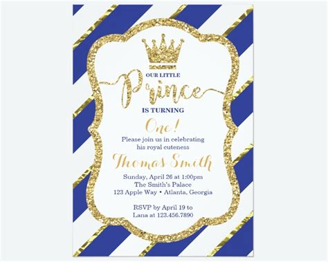 FREE 9+ Prince Birthday Invitation Designs & Examples in