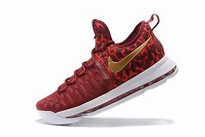 New Nike KD Kevin Durant 9 red gold men sneaker basketball ...