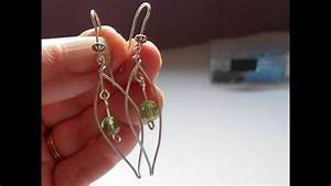 Leaf Earrings A Wire Wrapping Tutorial