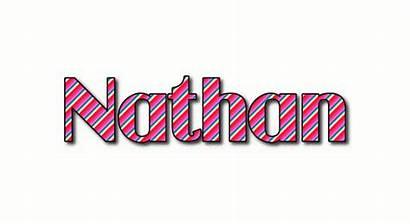 Nathan Text Logos Stripes Flaming Tool Animated
