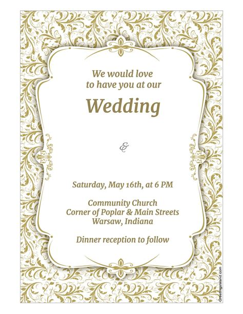 Invitation Template Wedding Invitation Template Wikidownload