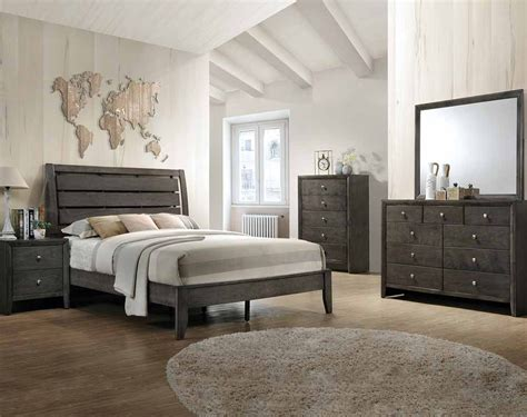 gray bedroom set evan grey bedroom set american freight