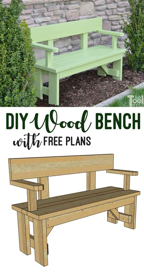 Diy Patio Bench Plans by Diy Wood Bench With Back Plans Tool Belt