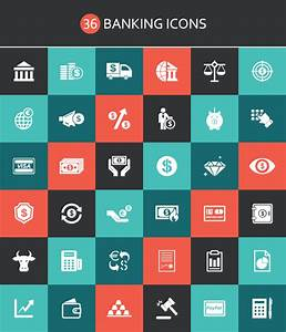 Free Icons: 36 Banking Icons (AI, EPS, PSD)