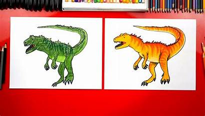 Draw Allosaurus Spotlight Dinosaur Hub Today Friends