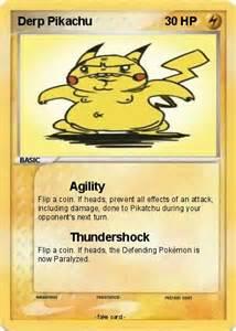 Derp Pokemon Card Pikachu