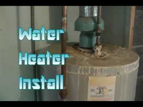 diy gas water heater install youtube