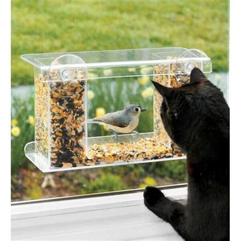 plow hearth window mount   tray bird feeder