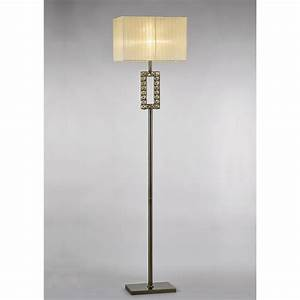 diyas florence single light rectangular floor lamp in With antique floor lamp types