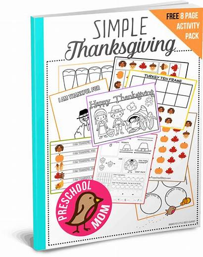 Thanksgiving Pages Coloring Preschool Printables Pack Mom