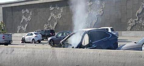 driver  tesla model  dies  violent crash