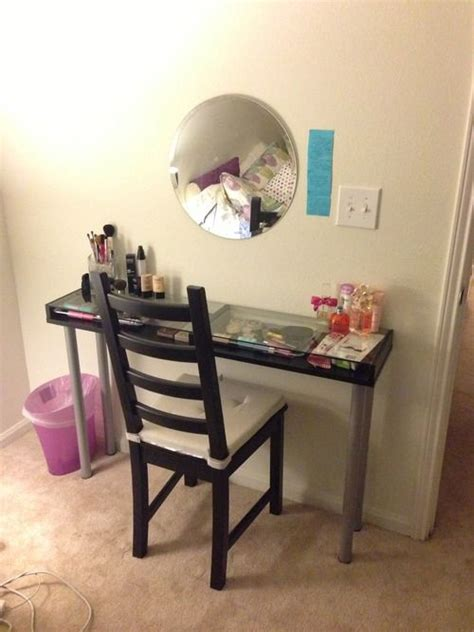 Diy Makeup Desk Ikea by Diy Vanity Table Made From Ikea Parts Diy