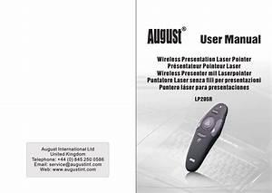 August Lp205r Manual En