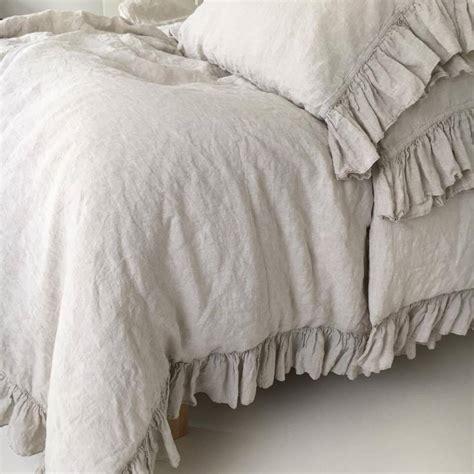 shabby chic duvet covers linen duvet cover shabby chic linen ruffled duvet cover with